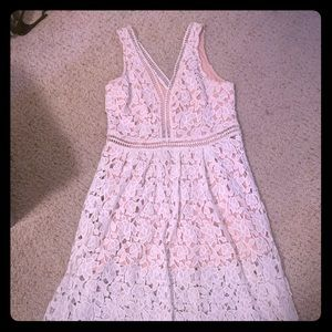 Just me midi lace dress